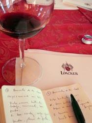 anotações em Montalcino